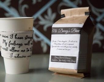 Pride and Prejudice Mr. Darcy's Coffee &  Cup Cozy
