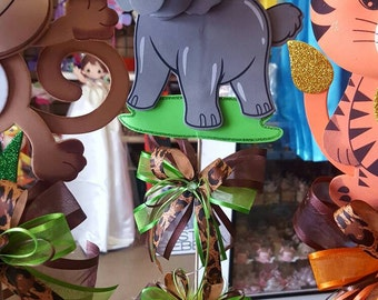Safari centerpiece, Baby shower centerpiece, animal themed party
