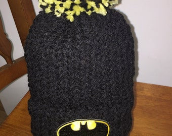 Hand made Toddler BATMAN beanie