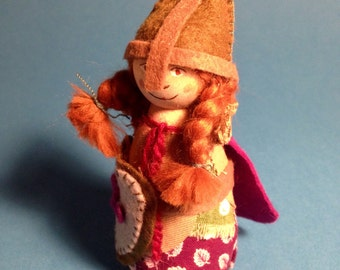 Girl Knight Pegdoll / inspired by Waldorf Steiner