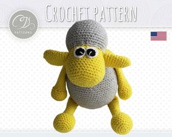 Amigurumi Pattern, Sheep, Stuffed Animal Crochet Pattern