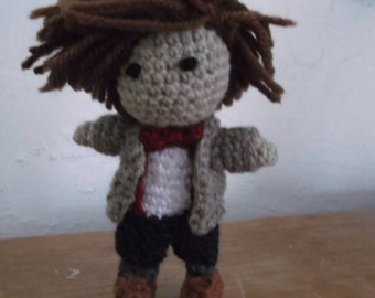 Dr. Who amigurumi. Eleventh Dr. Who. Dr. Who plushie. Dr. Who doll.