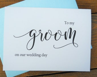 TO MY GROOM on our Wedding Day Card, Groom Wedding Day Card, To My Groom Card, Groom Gift, Groom Gift from Bride, Groom Wedding Gift