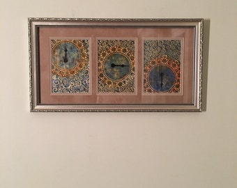 """Shorter Days, 21-3/4""""x11-3/4"""" with frame"""
