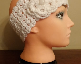 Sparkle White headbnd/earwarmer