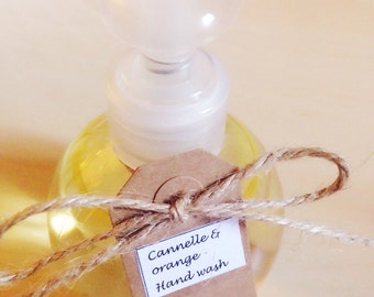 Cinnamon & orange liquid hand soap