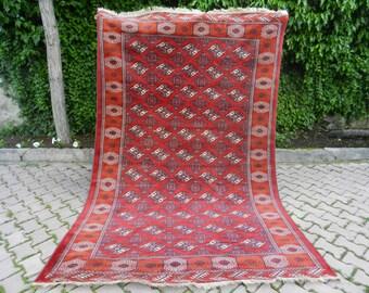 "Free Shipping Handmade Turkish Rug 6'4"" x 9'7"" Decorative Bohemiann Rug Antique Old Rug Hand made Rug Aztec Rug Turkoman Rug Vintage Rug"