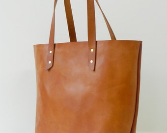 Vegetable Tanned Bridle Leather Tote - The Muzzy & Bea