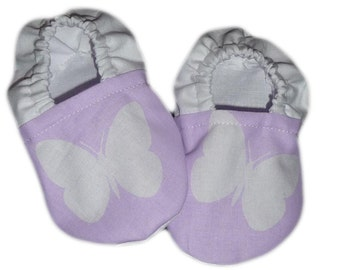 Baby butterfly white shoes