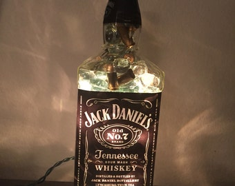Lighted Jack Daniels Whiskey Bottle