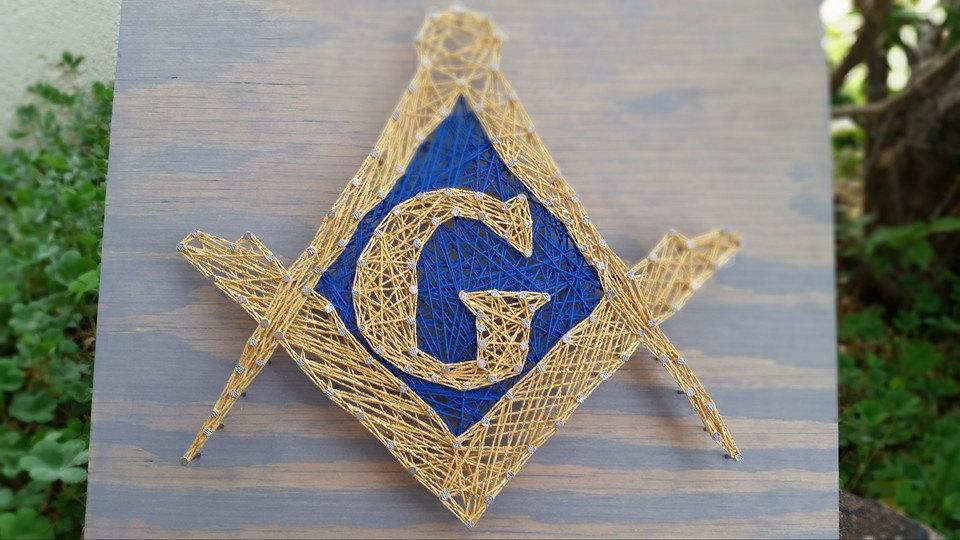 Https Www Etsy Com Listing 269712392 Masonic Wall Art String Art Masonic