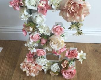 Custom wooden floral letter