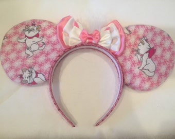 Disney Aristocats Marie inspired ears. Handmade Disney ears