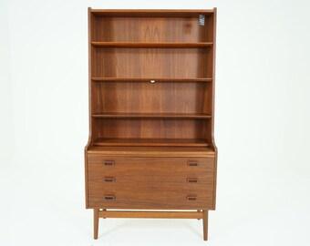 307-165 SALE! Danish Mid Century Modern Teak Bookcase Bookshelf Shelf Desk