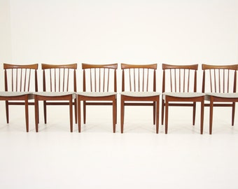 303-175 Danish Mid Century Modern 6 Teak Dining Side Kitchen Chairs