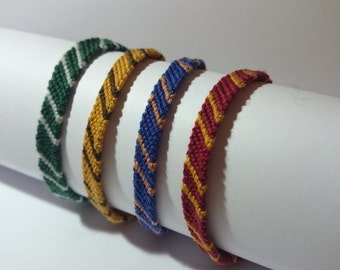 Lot of 4 Brazilian bracelets with clasp inspired by the world of Harry Potter