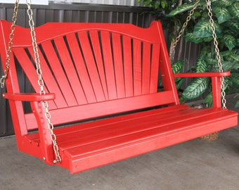 Fanback Porch Swing - Options 4',  5' or 6' FREE Shipping