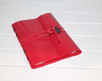 Hand bound notebook.