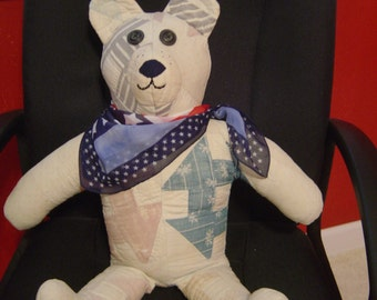 Vintage Bear from a Vintage Quilt