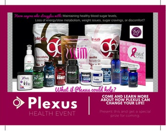 Plexus Postcard Invitation for Events