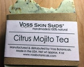 Citrus Mojito Soap, Mojito Soap, Vegan, Lime and Spearmint essential oils, Olive, Coconut, Avocado oils, Darjeeling Green Tea