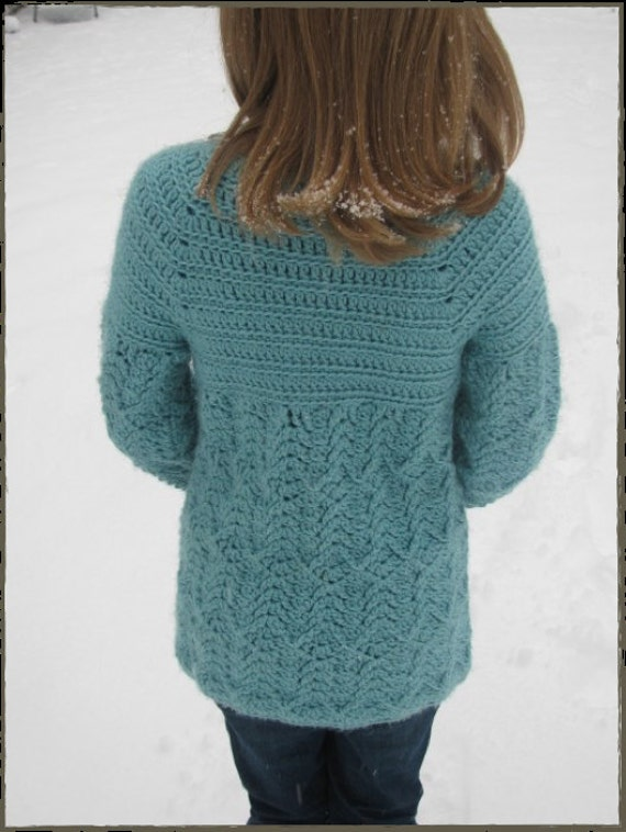 Classy Teen Or Tween Sweater From Snowedincrochet On Etsy