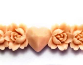 Roses & Heart Garland Border Sugarcraft Silicone Mould