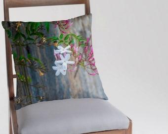 Jasmine cushion throw pillow home decor photographic print