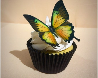 Edible Wafer Butterflies, Wedding Cake Topper, Butterfly Party, Wafer Paper, Butterfly Cake, Cupcake Butterflies