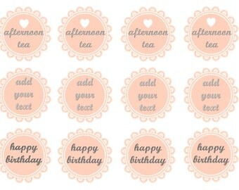 Vintage Doily Toppers, Pink Cupcake Toppers, Afternoon Tea, Personalised Toppers, Birthday Toppers, Wedding Cupcake Toppers, Wafer Paper,