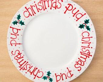 Ceramic Christmas Pud Plate