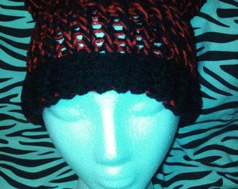 Red & Black Kitty Hat