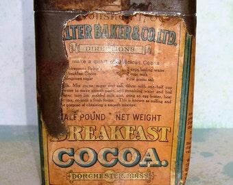 Antique Cocoa Tin