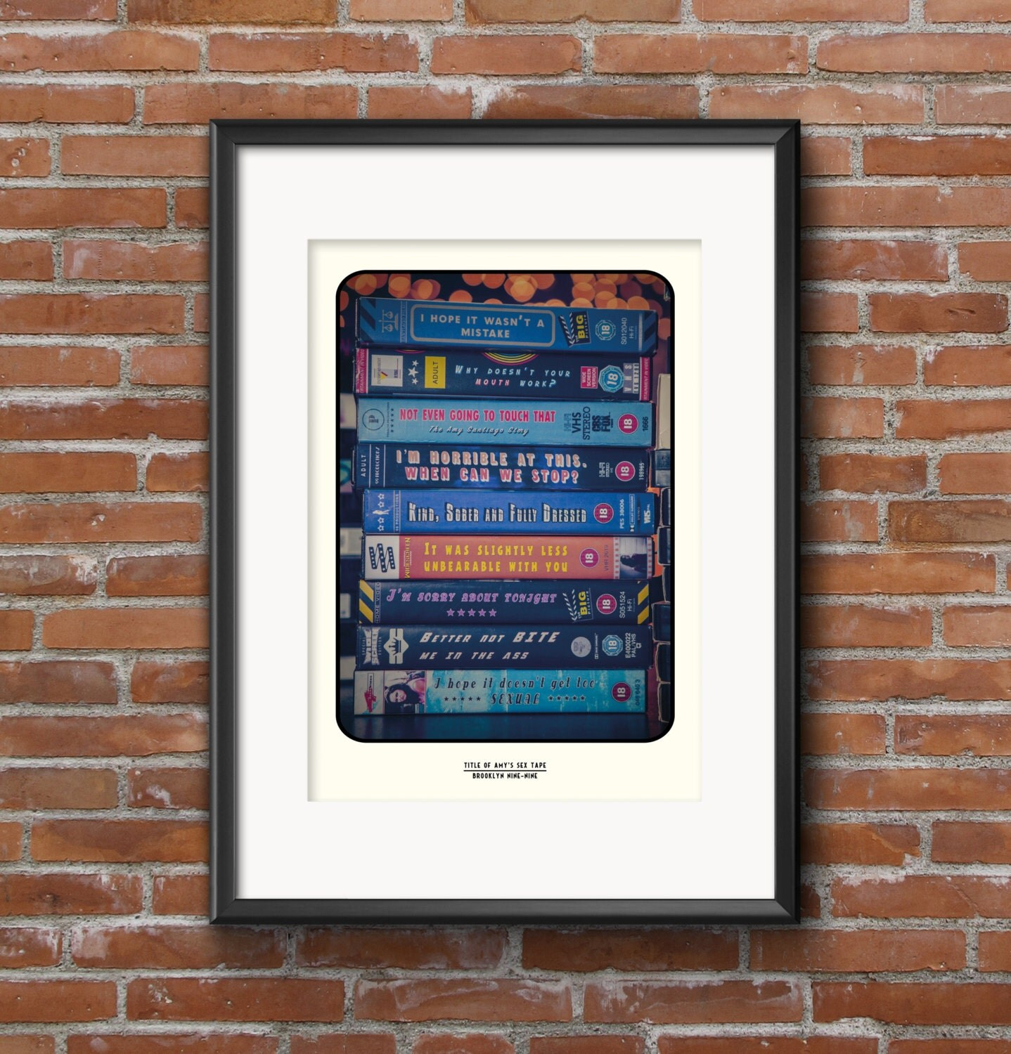 Color art printing anchorage - Title Of Amy S Sex Tape Brooklyn Nine Nine Quote Poster Jake Peralta Amy Santiago Digital Art Print Brooklyn 99 Print Tv Quote Print