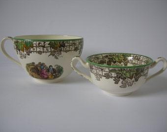 Copeland Spode Byron design large tea cup and soup bowl