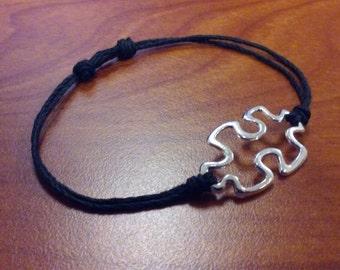 autism awareness bracelet, puzzle piece bracelet