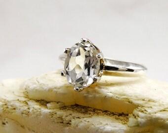 white topaz ring, Topaz ring, Ring topaz,  sterling silver topaz rings, white topaz ring, sky, ring size 3 4 5 6 7 8 9 10 11 12 13