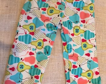 12-18 Month Baby Girl Pear Lounge Pants