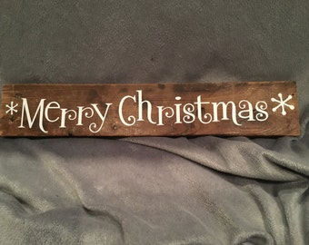 Wood Merry Christmas Decor