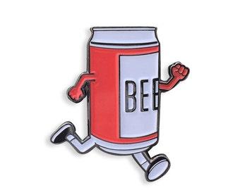 Beer Run Enamel Pin