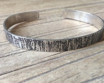 Sterling Silver Textured Cuff