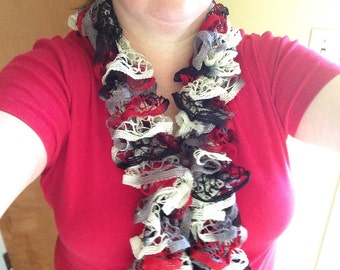 Hand Knitted Fashion Ruffle Scarves