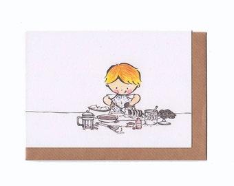 Christophe's Choc Ripple Cake - Greeting Card