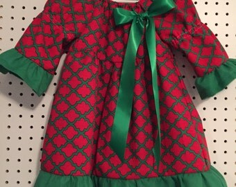 Red and Green Christmas Dress size 2T