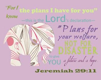 Jeremiah 29:11 Printable Wall Art