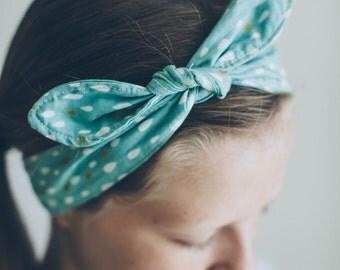 Teardrop Fabric Tie Headband