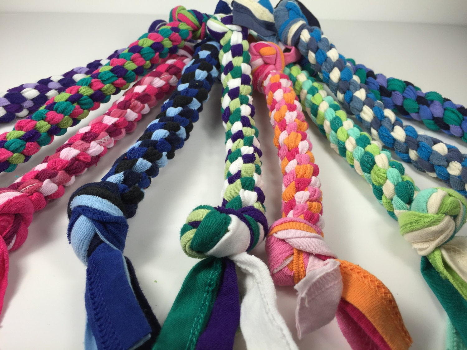 Upcycled t shirt braided rope dog toy large size in custom for T shirt dog toy
