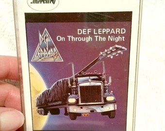 Def Leppard On Through The Night Cassette Tape 1980's music, vintage music