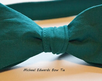 Mens Teal Bow Tie, Mens Teal Bowtie, Self-Tie Bow Tie, Self Tie Bowtie, Men's Teal Bow Tie, Groomsmen Tie, Mens Bow Tie, Mens Bowtie, Prom