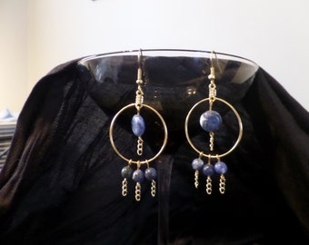 Blue and Gold Hoops